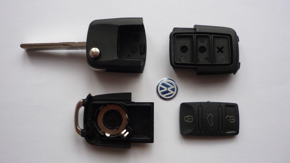 Obal klíče klíč PTW škoda octavia.. 3-tlačítka